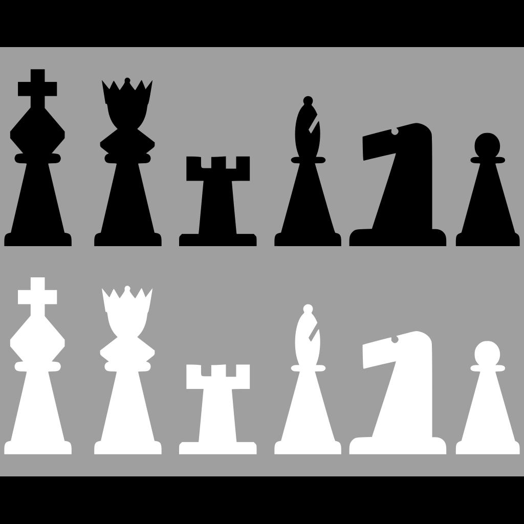 Chess Set Pieces SVG Clip arts