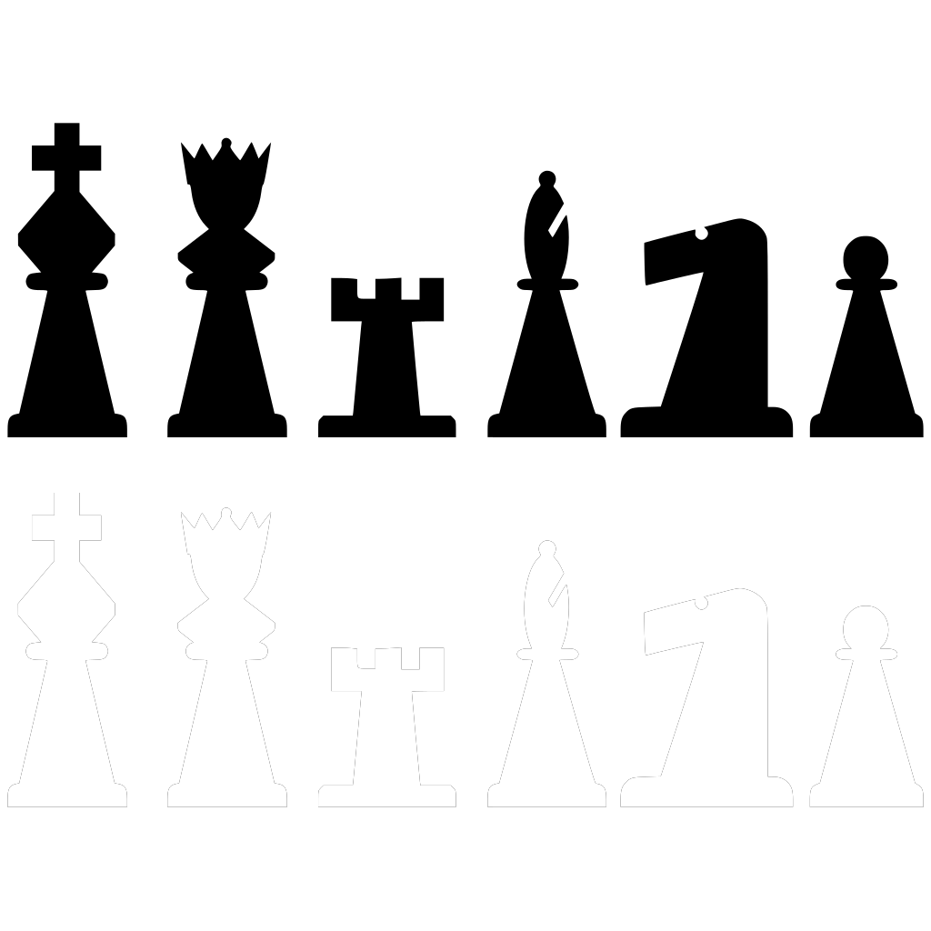 Chess Pieces Set SVG Clip arts