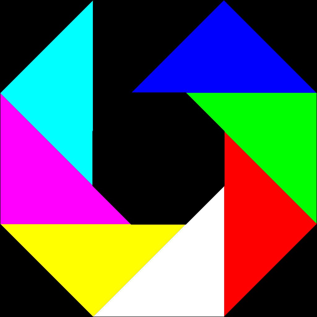 Colorful Octagon SVG Clip arts