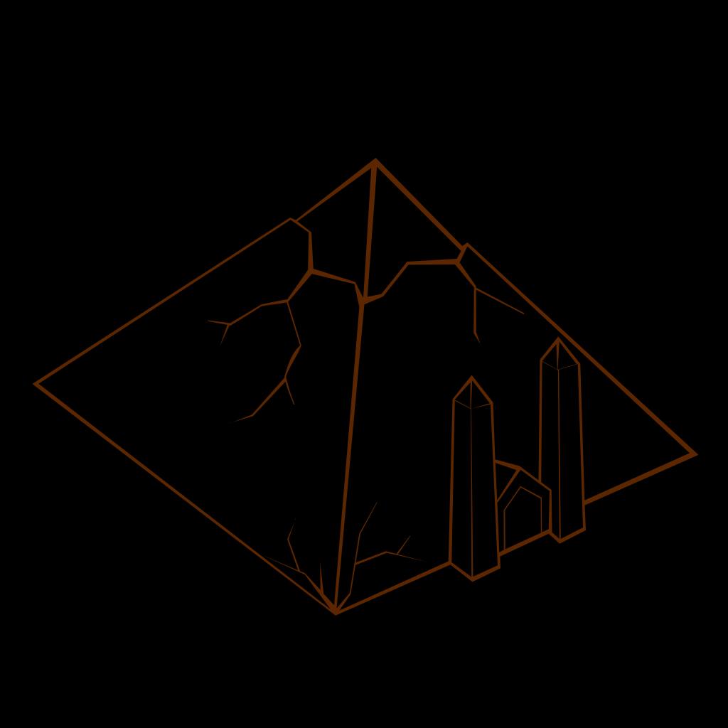 Light Blue Pyramid SVG Clip arts