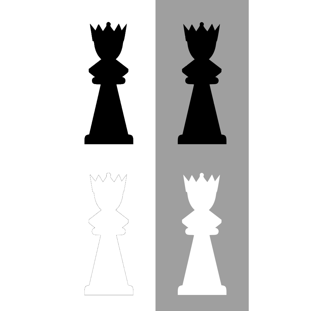 Chess Set Queen SVG Clip arts