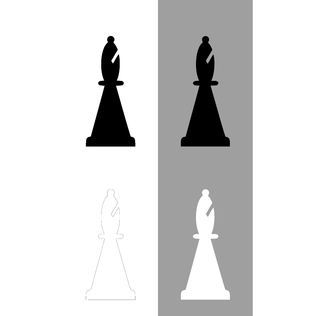 Chess Set Bishop SVG Clip arts