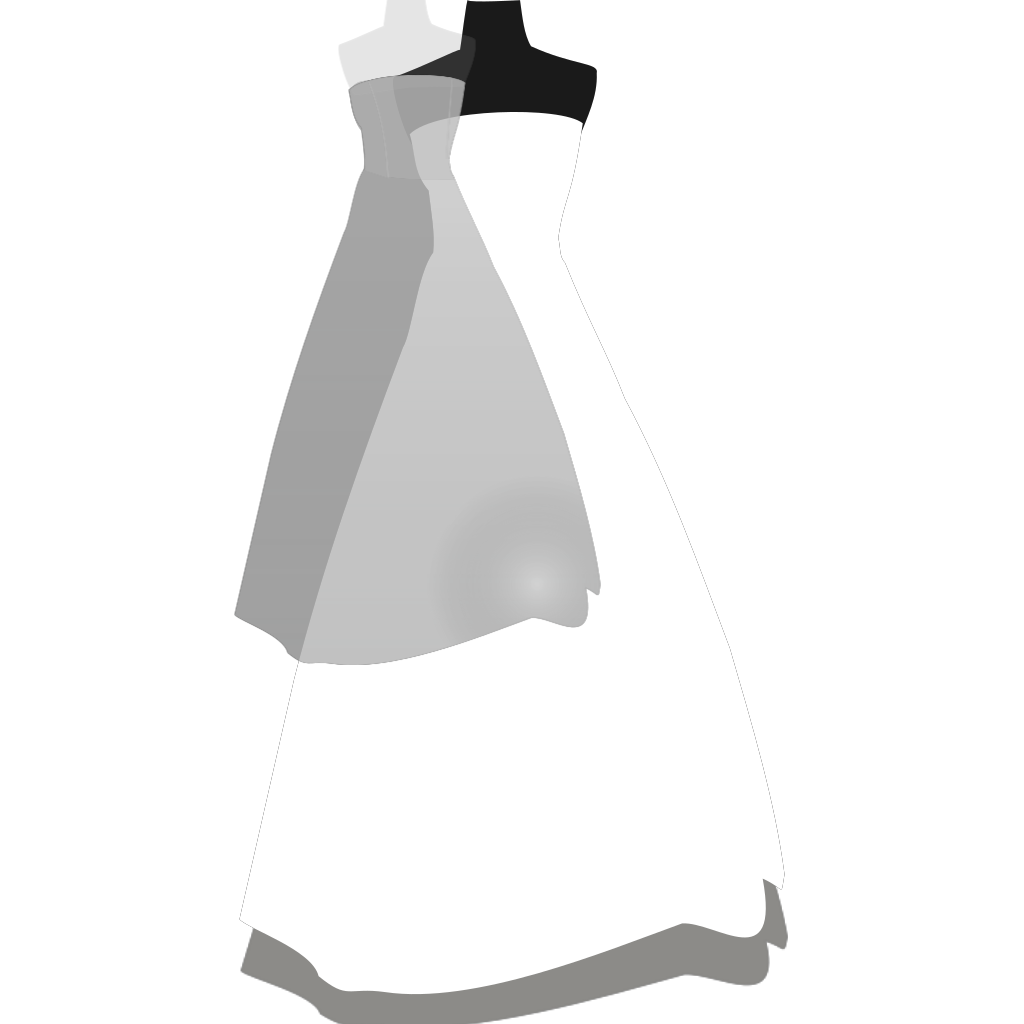 Blue Dress SVG Clip arts
