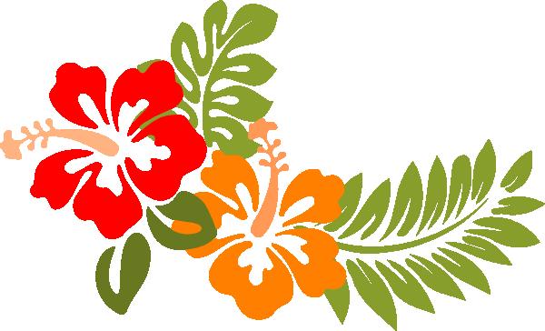 Hibiscus Opuesto SVG Clip arts