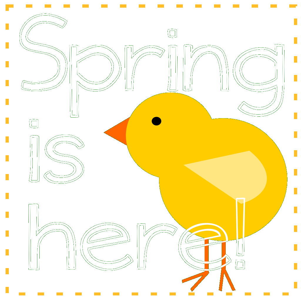 Spring Is Here Green SVG Clip arts