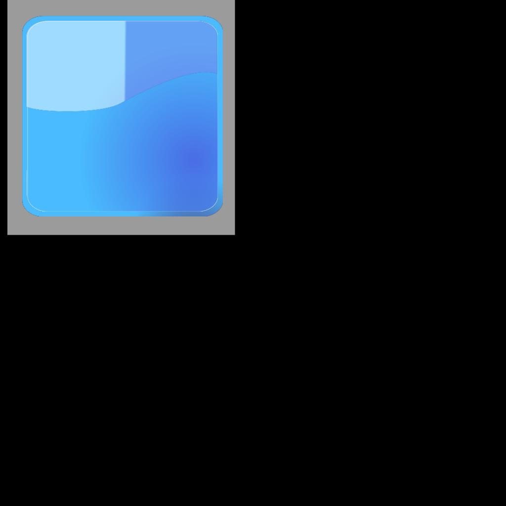 Aqua Blue Button (no Shadow) SVG Clip arts