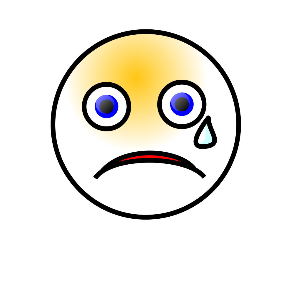 Crying Smiley svg