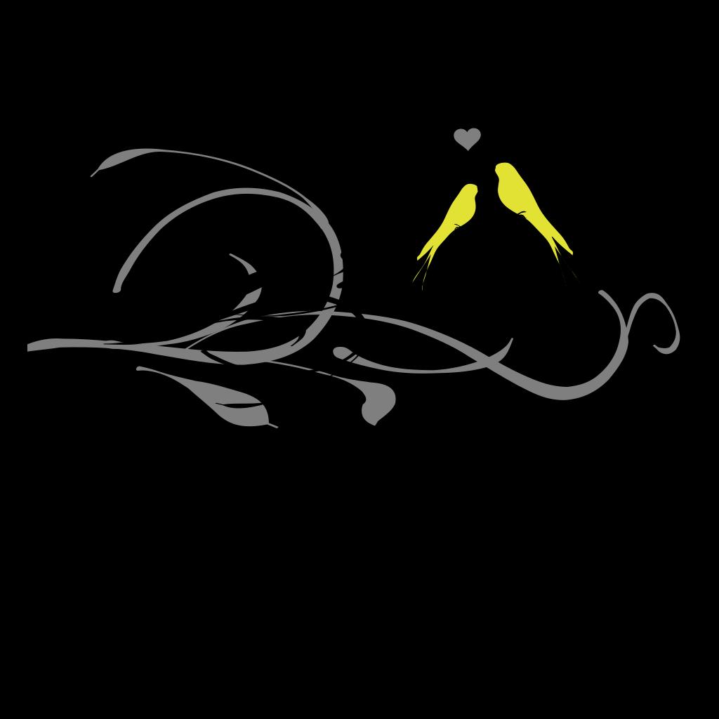Love Birds On A Branch SVG Clip arts