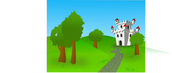 Castle On The Hill SVG Clip arts