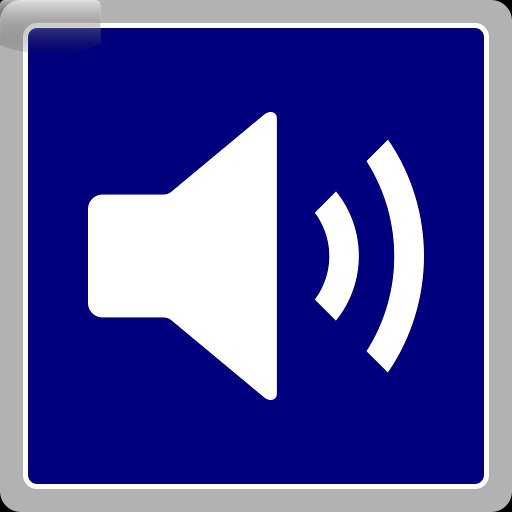 Blue Audio Icon SVG Clip arts