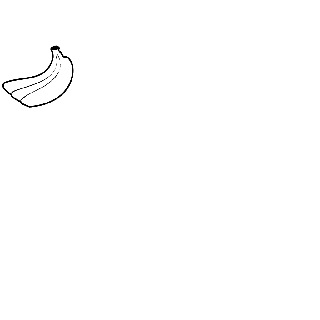 Banana Blue SVG Clip arts