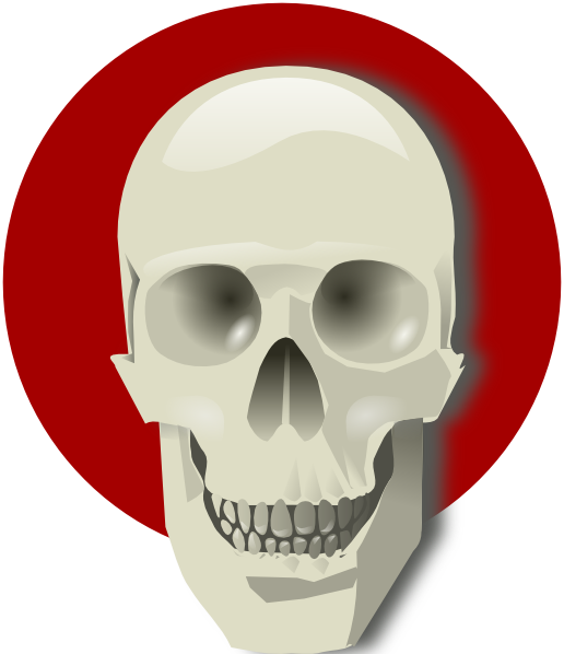 Cute Skull SVG Clip arts