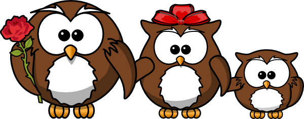Owl Family SVG Clip arts