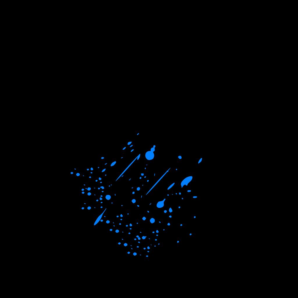 Blue Splitter Splatter SVG Clip arts