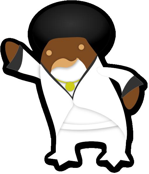 Disco Penguin SVG Clip arts