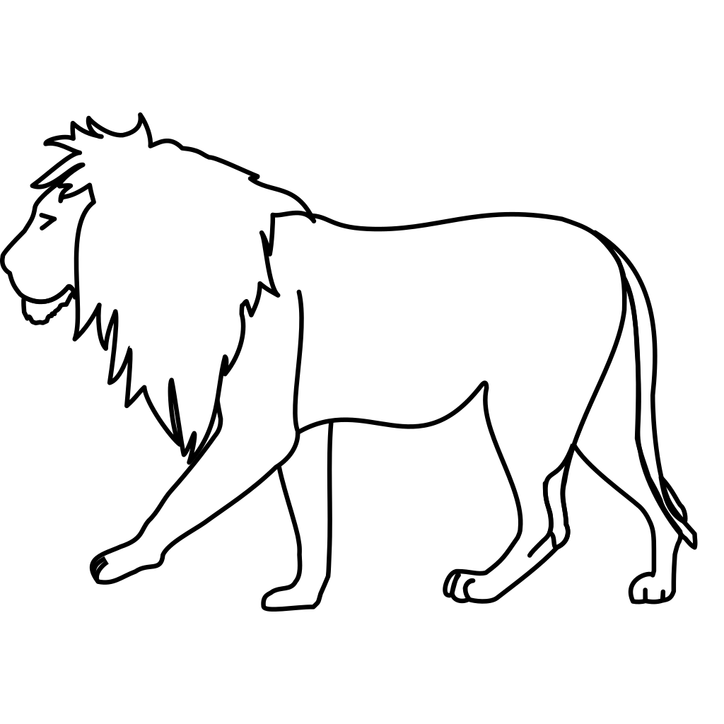 Walking Lion SVG Clip arts