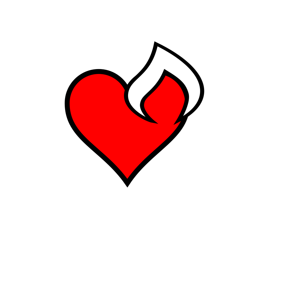 Heartfire SVG Clip arts
