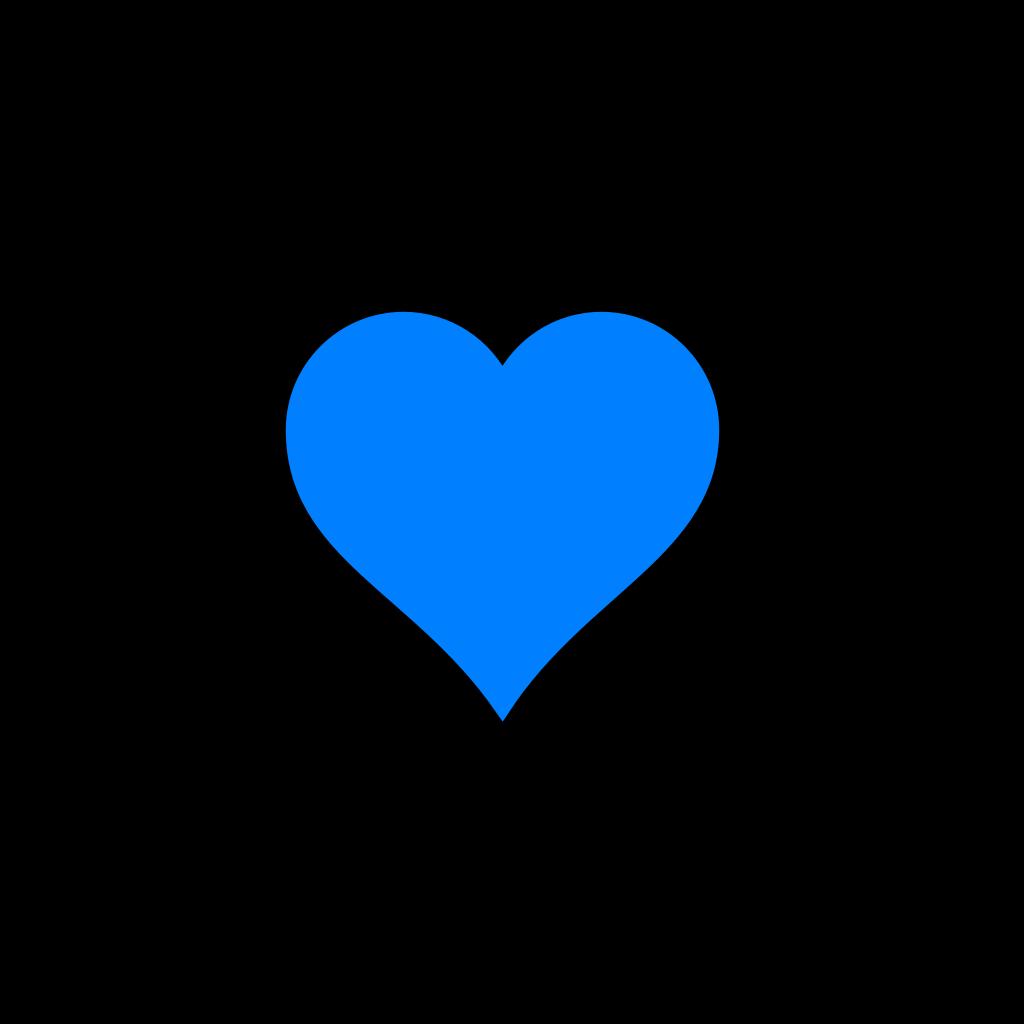 Blue Heart Kokoro SVG Clip arts