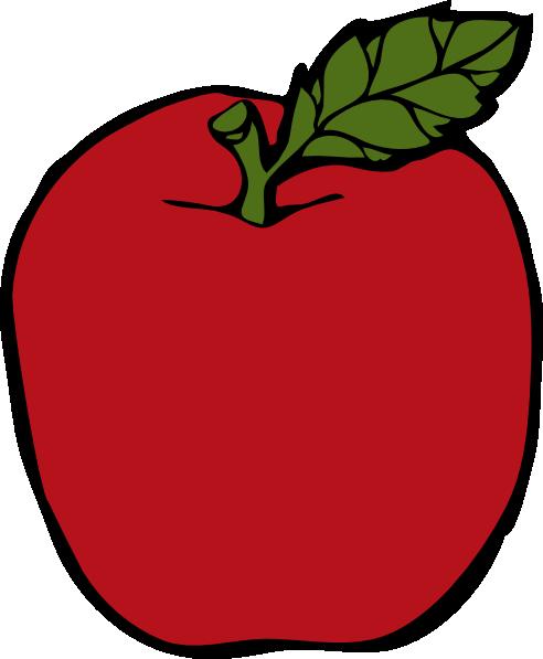 Peach Apple SVG Clip arts