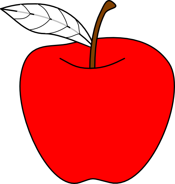 Cartoon Apple SVG Clip arts