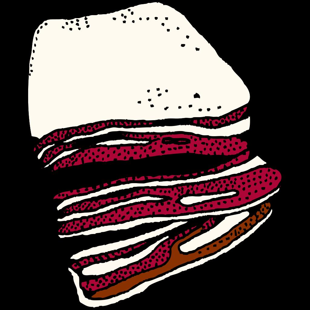 Bacon (b And W) SVG Clip arts