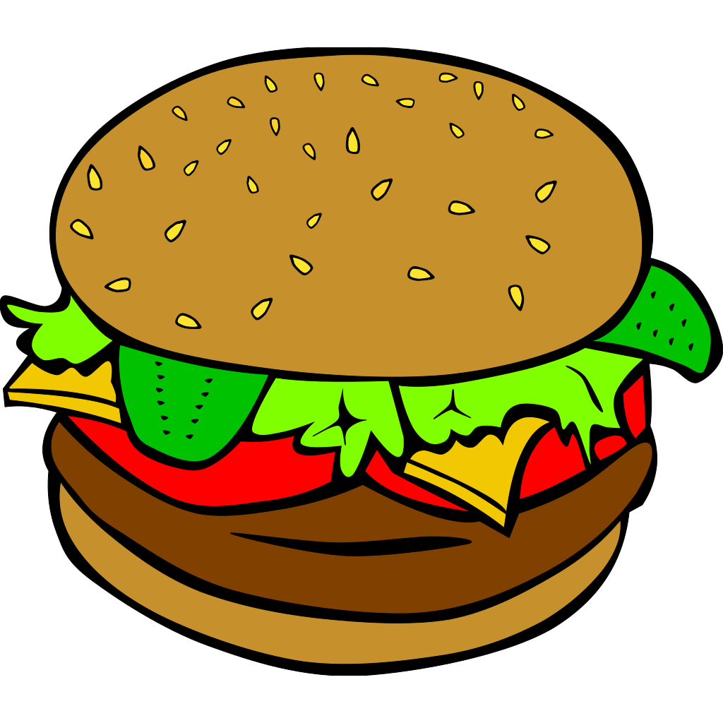 Hamburger (b And W) SVG Clip arts