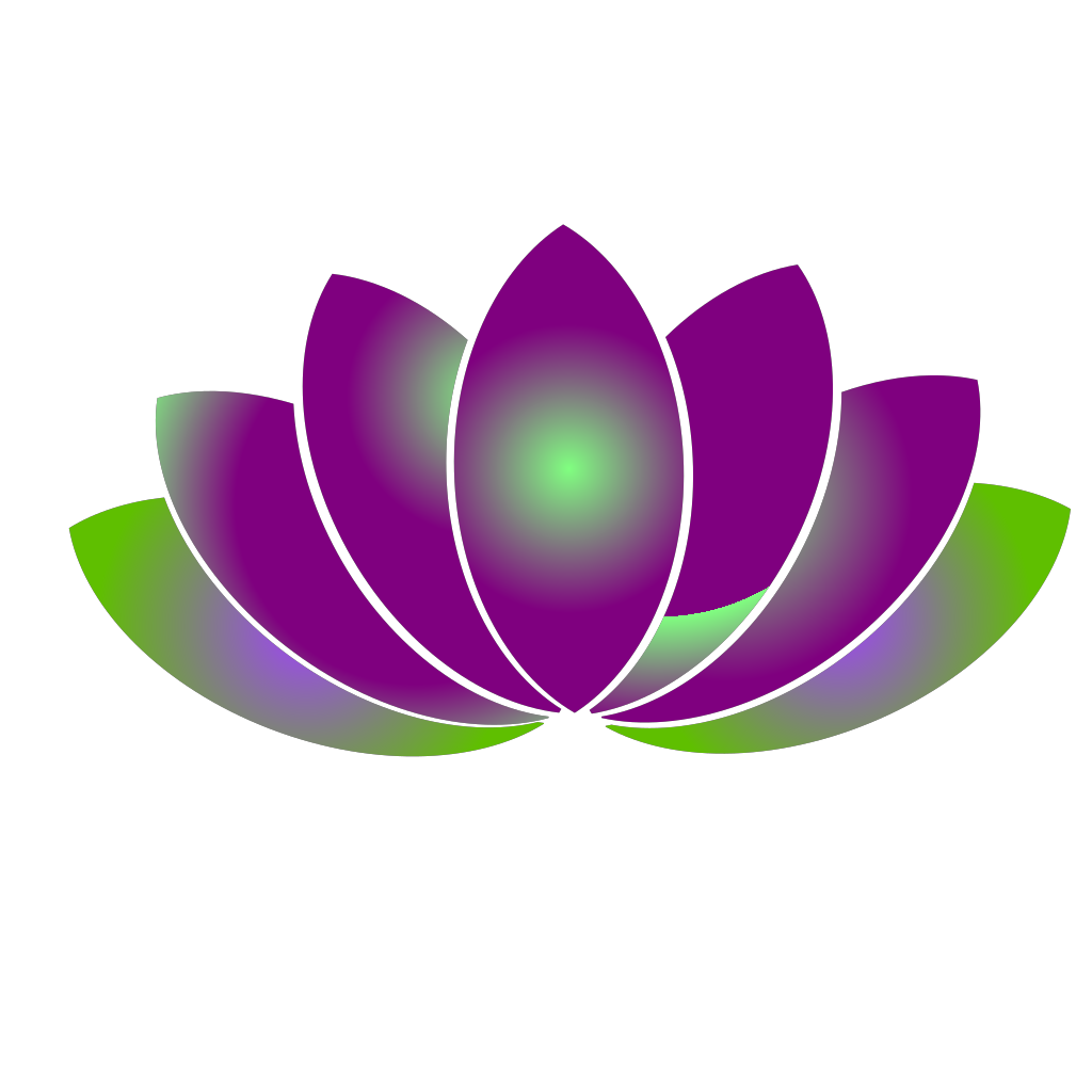 Blue Lotus Flower SVG Clip arts