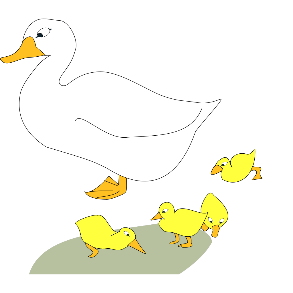 Goose With Gosling SVG Clip arts