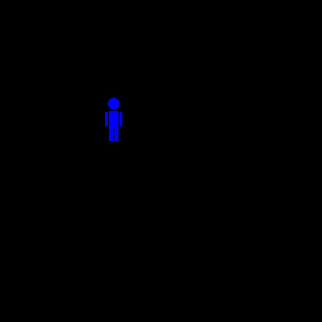 Blue Boy Stick Figure SVG Clip arts
