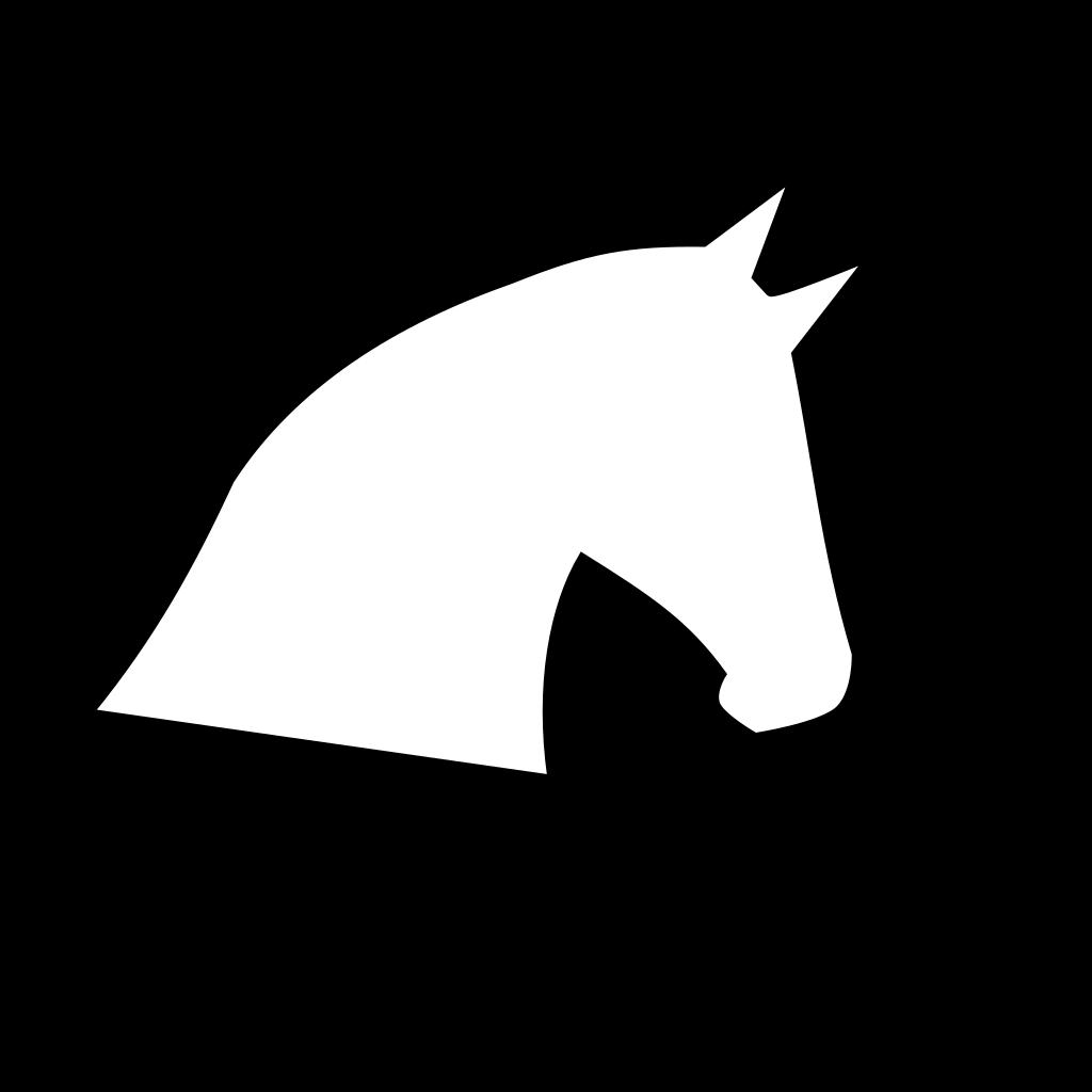 Horse Head Outline SVG Clip arts