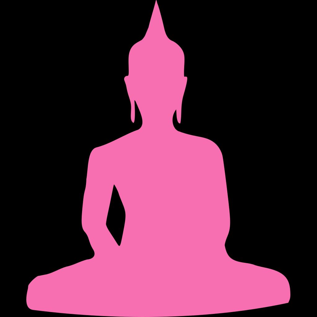 Pink Buddha 4 SVG Clip arts