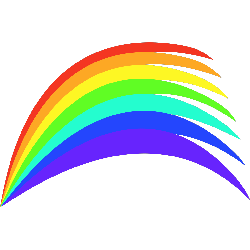 Rainbow SVG Clip arts
