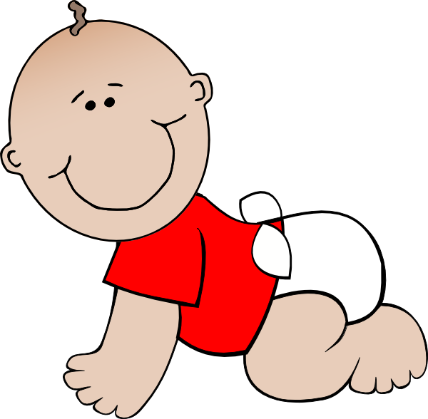Baby Boy Lying Clip Art