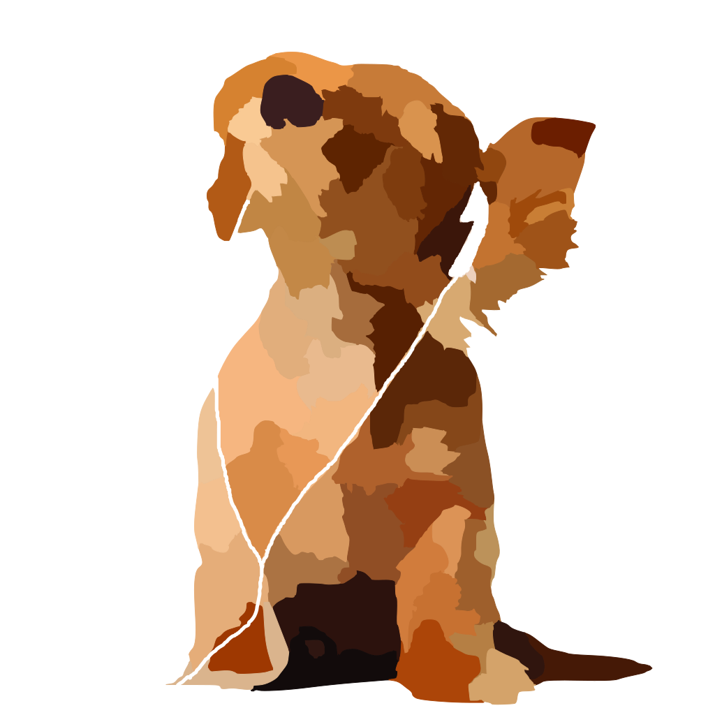 Tom Waiting Dog Lineart SVG Clip arts