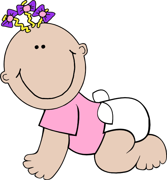 Baby Girl Sitting SVG Clip arts
