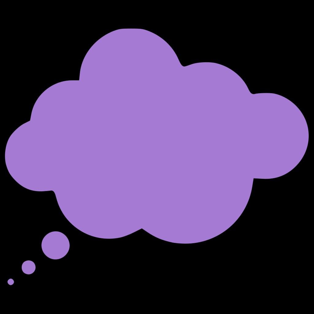 Blue Thought Bubble Clip art - Cartoon - Download vector clip art ...