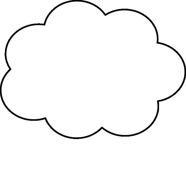 Blue Thought Bubble SVG Clip arts