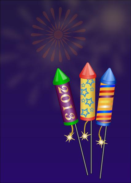 Large Silver Fireworks SVG Clip arts