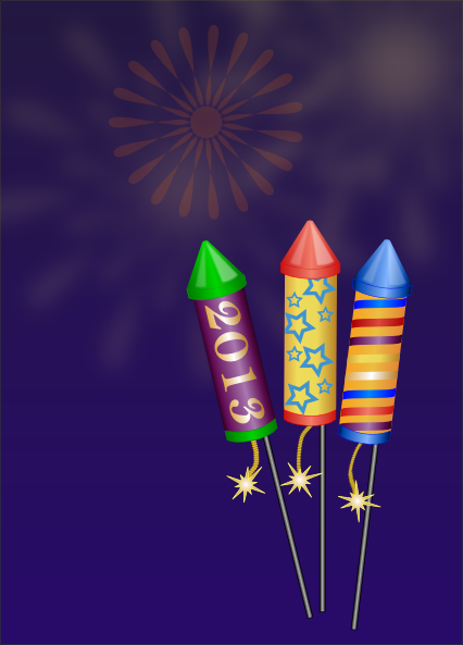 Large Brugundy Fireworks SVG Clip arts