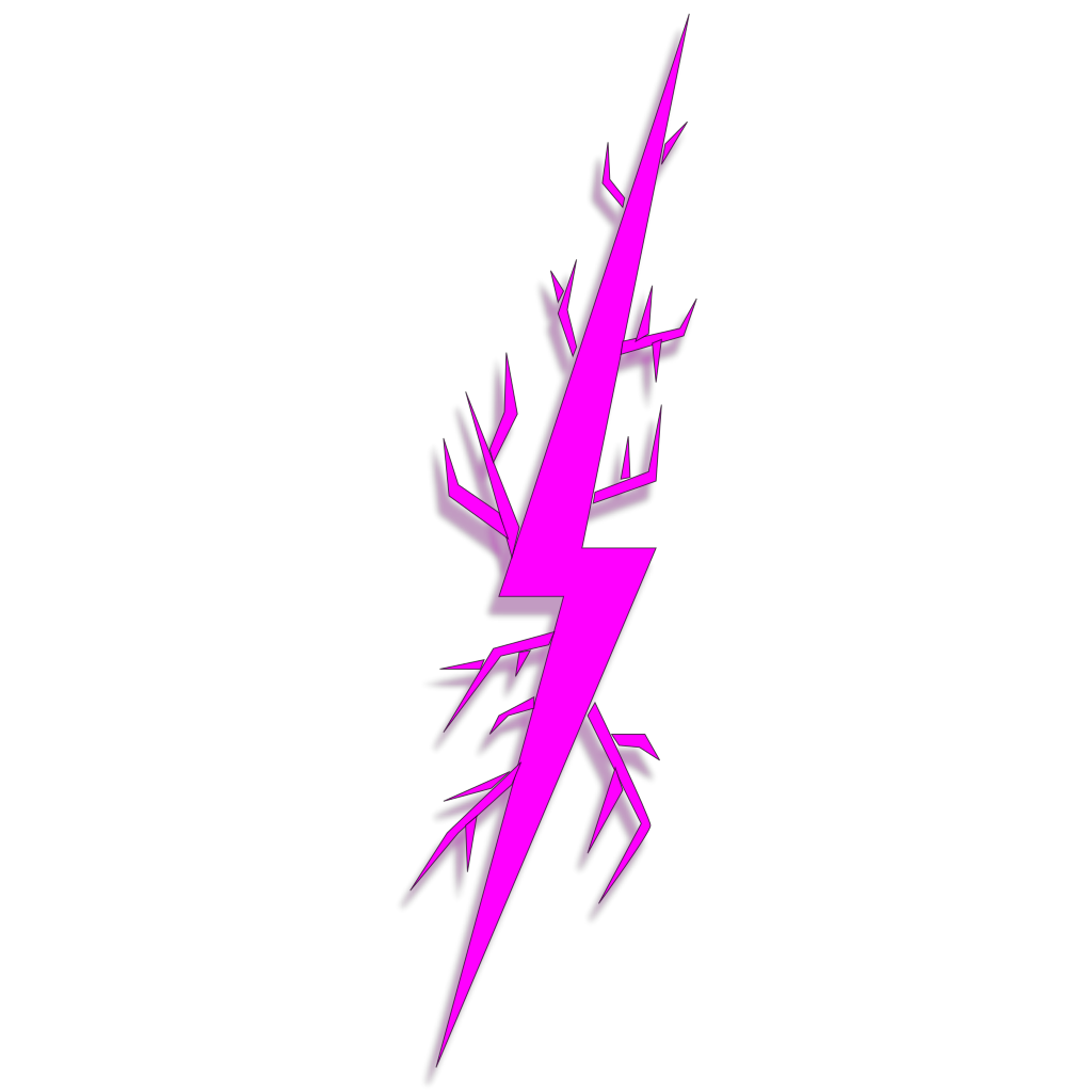 Lightning Bolt Right SVG Clip arts