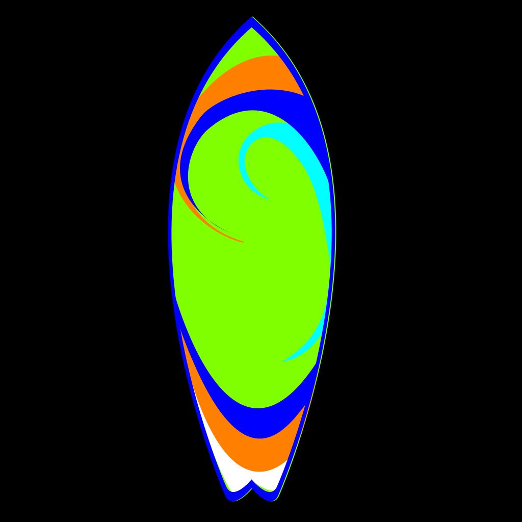 Surfboard SVG Clip arts