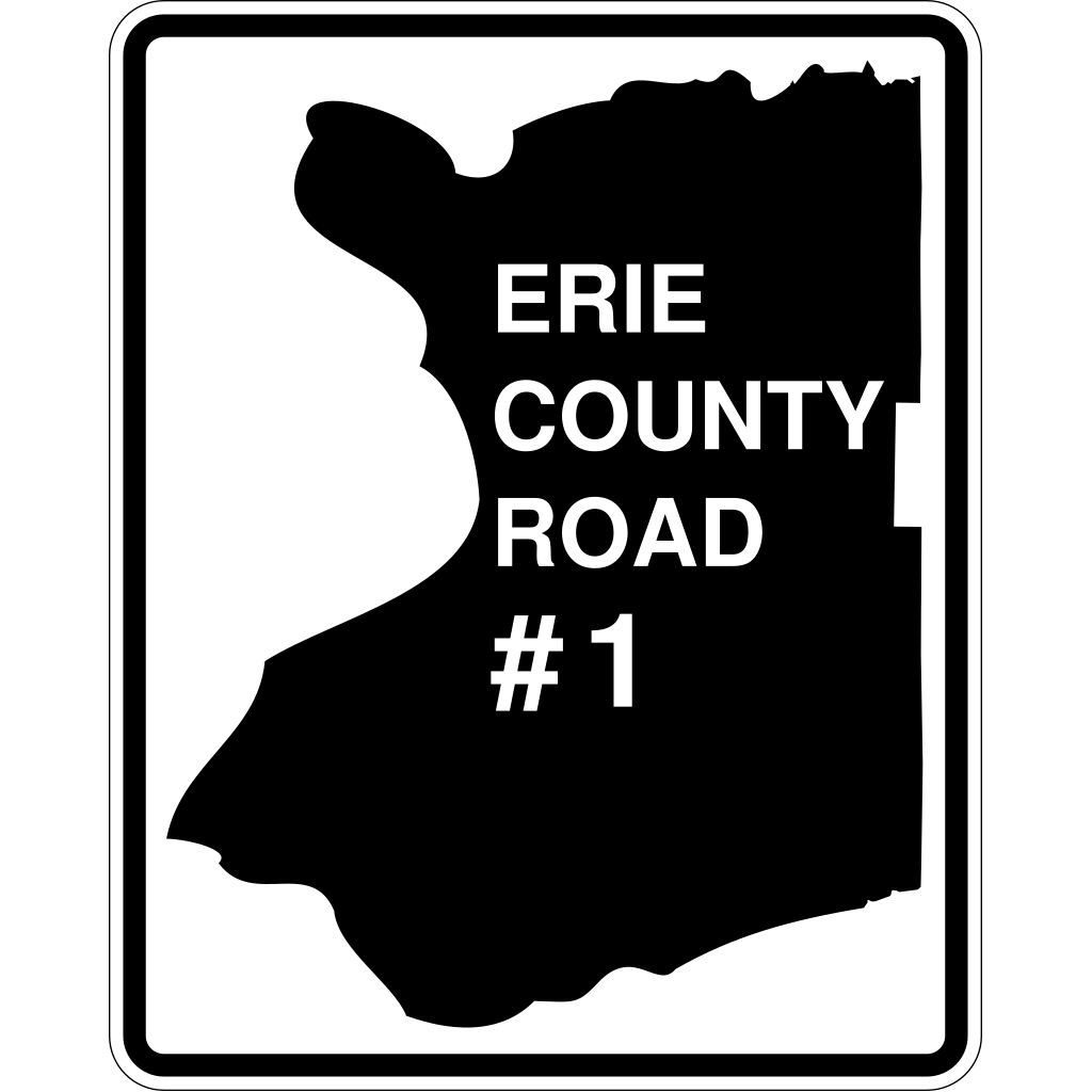 Erie County Route Ny SVG Clip arts
