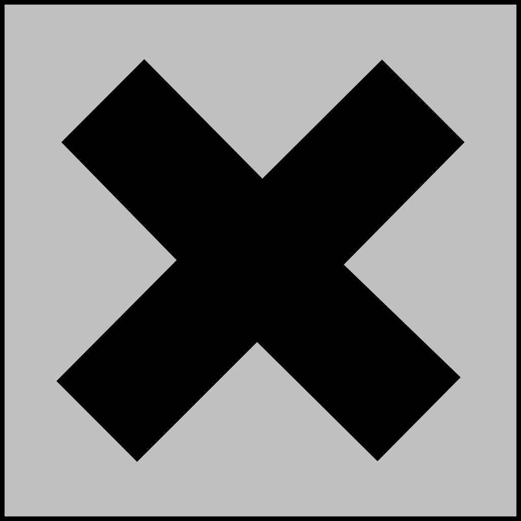 Hazard X Silver SVG Clip arts