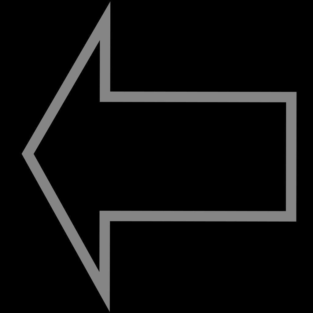 Left Outline Arrow SVG Clip arts