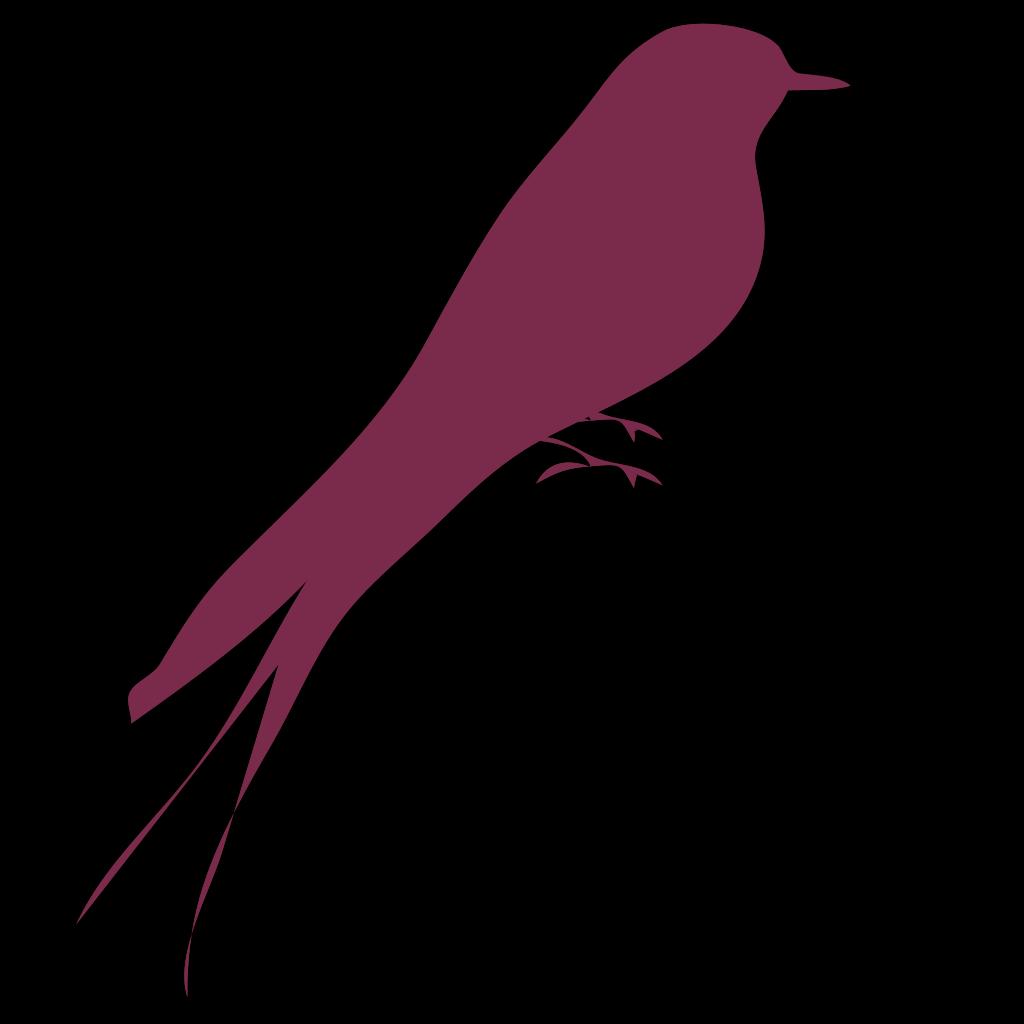 Purple Bird SVG Clip arts