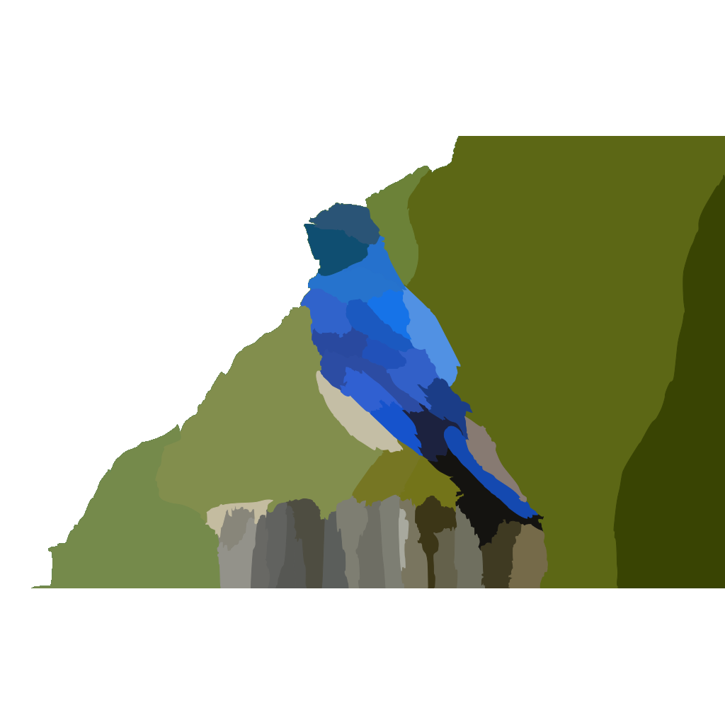 Mountain Blue Bird X SVG Clip arts