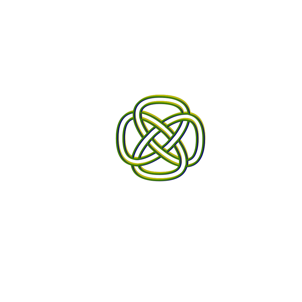 Blue Green Yellow Knot SVG Clip arts