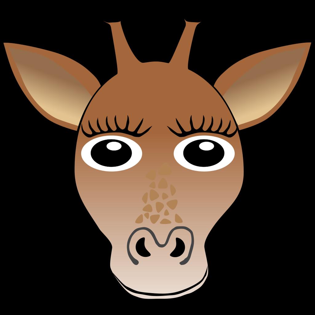 Giraffe Face SVG Clip arts