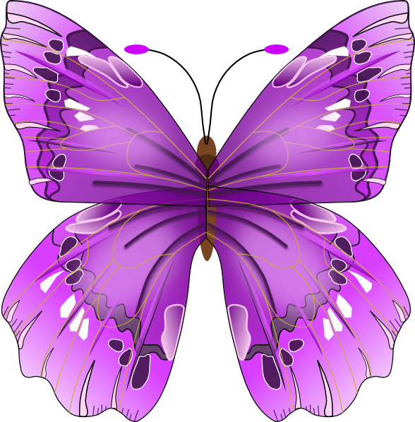 Blue Butterfly SVG Clip arts