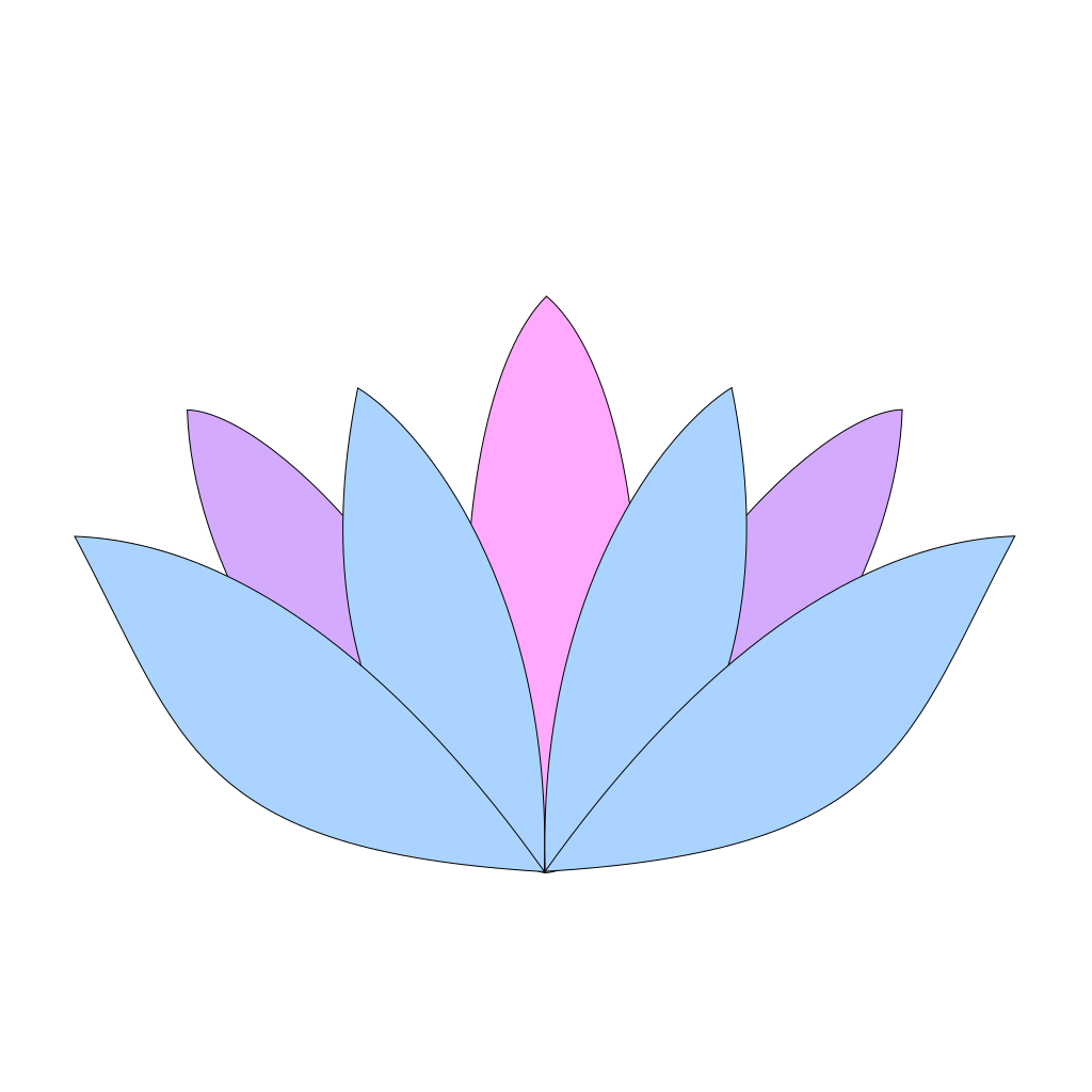 Lavender Lotus Flower SVG Clip arts